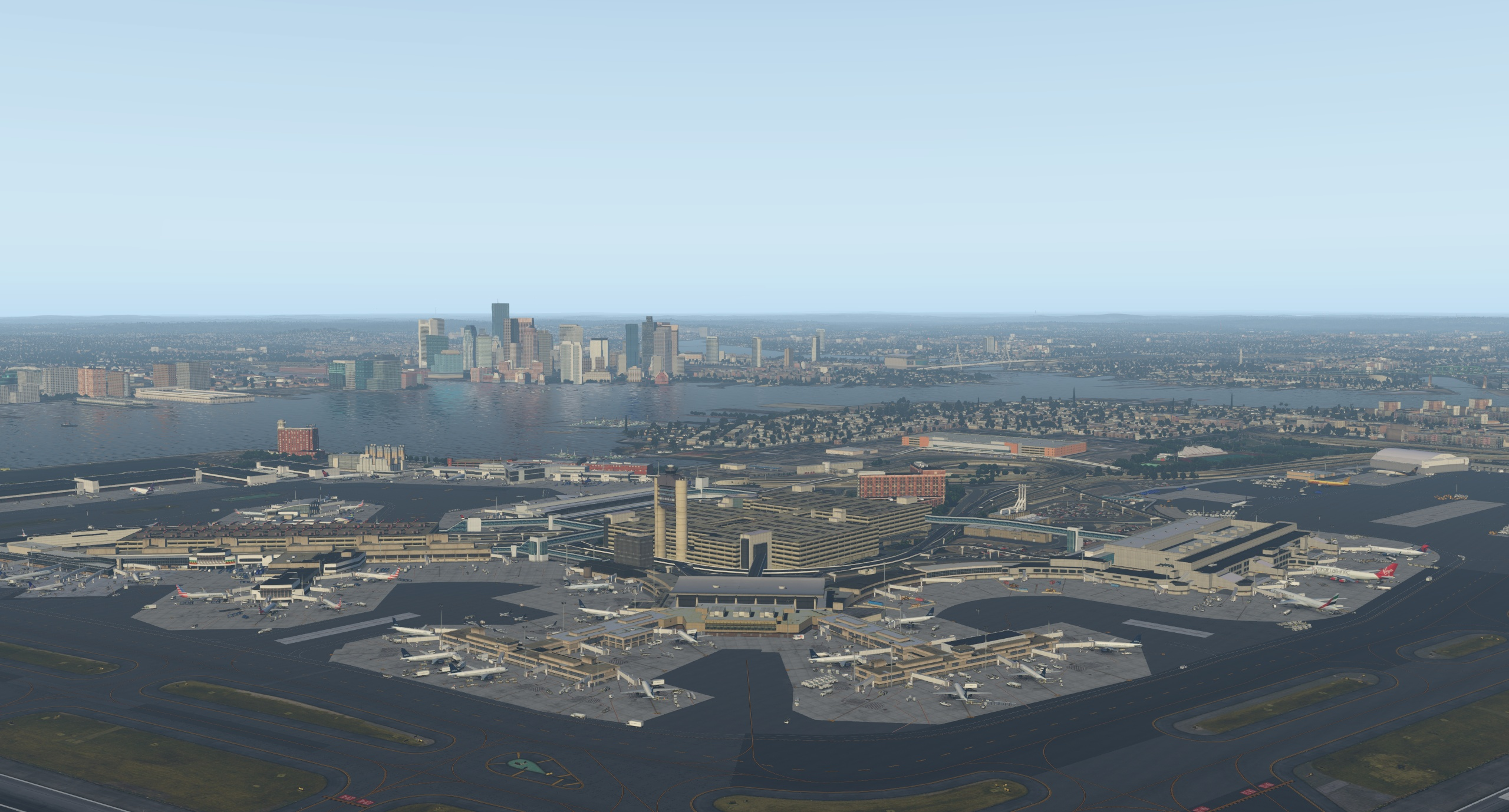 The incredible Boston scenery by Mister X - The AVSIM Screen Shots